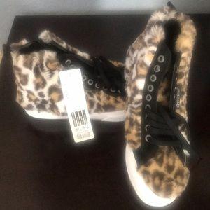 Woman's Superga leopard shoes NWT  6 1/2 USA